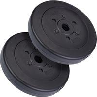 ScSPORTS® 30 kg Hantelscheibenset Kunststoff Gewichte 2x7,5 kg 4x2,5 kg 4x1,25 kg Ø 30 mm Hantelscheiben Set Hanteln für den Kraftsport