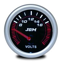 JOM Zusatzinstrument Voltmeter Volt schwarz 52 Shadow Neu