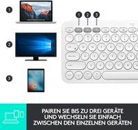 Logitech K380 Multi-Device Bluetooth Keyboard Tastatur Weiss Easy-Switch kabellos