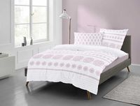 Irisette Mako Satin Bettwäsche 2 teilig Bettbezug 135 x 200 cm Kopfkissenbezug 80 x 80 cm Corado 8946-20 rosa