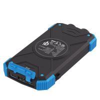 Xlayer Powerbank PLUS Solar Wireless Black/Blue 10000mAh