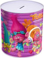 Trolls sparschwein Mädchen 15 x 13,5 cm Aluminium lila