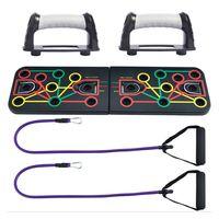Push Up Rack Board 13in 1 Liegestützbrett mit Handgriffen Farbcodiertes Training