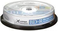10 Xlayer Rohlinge Blu-ray BD-R Dual Layer 50GB 6x Spindel