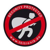 "Thitronik Warnaufkleber ""SECURITY PROTECTED"" 3 St."