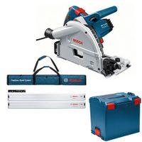 Bosch Tauchkreissäge GKT 55 GCE L-Boxx + 2 Führungsschiene FSN 1600 1x FS Tasche