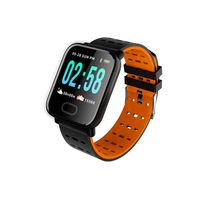 Abtel Smartwatches Blutdruck Herzfrequenzmesser Armband Armband IOS Android,Farbe: Orange