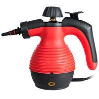 COSTWAY Dampfreiniger inkl. 9 Zubehörteil, Handdampfreiniger, Dampfreinigen Handgerät 3 bar / 350ml / 1050W / 3-5min Aufheizzeit Rot