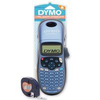 DYMO LetraTag LT-100H Beschriftungsgerät Handgerät | Tragbares Etikettiergerät mit ABC Tastatur | blau | Ideal fürs Büro oder zu Hause