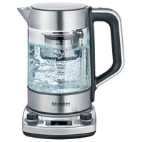 Severin WK 3422 Wasser-/Teekocher glas/edelstahl 1,7 L 3000 W Digital-Anzeige