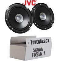 Skoda Fabia 1 6Y Front - Lautsprecher Boxen JVC CS-J610X - 16,5cm Auto Einbauzubehör 300Watt Koaxe KFZ PKW Paar  - Einbauset