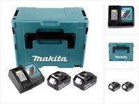 Makita Power Source Kit Li 18V mit 2x BL1860B Akku 6,0Ah + DC18RC Ladegerät ( 199480-6 ) + Makpac