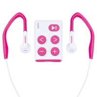 Lenco MP3 Spieler Xemio-154, Micro USB 2.0, 60g, Farbe: Weiß/Pink