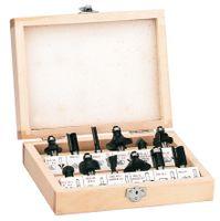 Einhell FS 12 Fräsersatz im Holzkoffer 12 Einzelfräser; Holzkoffer