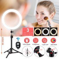 """Moerae Fernbedienung LED Dimmbar Make Up Ringlicht 24 """"Stativ Make Up Licht für Telefon Selfie Live Broadcast Video Aufnahme"""