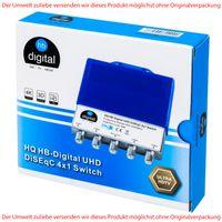 HB-DIGITAL HQ UHD DiSEqC Schalter 4/1 Switch