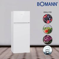 Bomann Doppeltür-Kühlschrank DT 7318.1 weiß 206 Liter