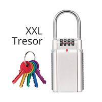 XXL Schlüsseltresor | Mega Lock | 4-Stelliger Code | Schlüssel Aufbewahrung Schloss | tragbarer Safe für Ersatzschlüssel | bis zu 6 Schlüssel | Auto Haustüre Büro