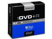 Intenso DVD+R bedruckbar 4,7 GB 16x Speed - 10stk Slim Case