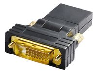 Transmedia DVI / HDMI-Adapter; HDMI-Kupplung 19 pol. auf DVI-D Stecker 24+1 pol., C 197 BWG
