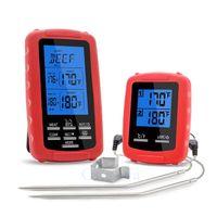 Digital Funk Bratenthermometer Grillthermometer Ofenthermometer Thermometer Wireless mit 2 Temperaturfühlern für BBQ, Ofen und Grills