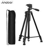 Andoer 135cm Stativ Kamera Stativ Kamera Dreibein Tripod Aluminium für Handy Halterung Lightweight Tripod Ständer