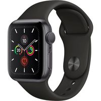 Apple Watch Series 5 Aluminium Space Grey, 40mm, Sportarmband schwarz, MWV82FD/A