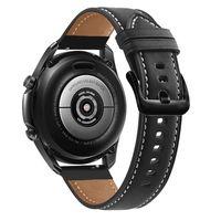 Echtleder Armband 22mm kompatibel mit Samsung Galaxy Gear S3 / Gear 2 in SCHWARZ - Ersatzarmband / Huawei Watch GT / Watch 2 PRO / Ticwatch PRO / Pepple Time / Amazfit Pace uvm..