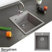 Bergström Granit Spüle Küchenspüle Einbauspüle Spülbecken 425x500mm Beton