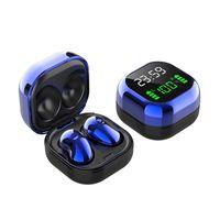 S6 Plus TWS-Kopfhoerer Bluetooth 5.1-Funkkopfhoerer mit Mikrofon Time & Power Digital Dispaly Sport-Headsets Musik-Ohrhoerer fuer Telefone