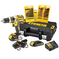 DeWALT - Akku-Schlagbohrschrauber-Set DCK795S2T-QW, Schlagbohrmaschine + Akku-Set + T-STAK Box + Zubehör-Set 18 V 1,5 Ah