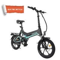 Elektroscooter 16 Zoll mit 250W Motor 36V 7.5Ah Lithium-Akku,25 km/h, 3 Geschwindigkeitsmodi, LCD-Bildschirm für Herren Damen bis 120kg, Elektrofahrrad,faltbares E-Bike Klapprad Ebike City Bike Mountainbike