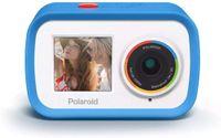Polaroid iD922 4K Streaming Action Cam mit WLAN-Funktion & 18 MP Blau   Dual-Screen Videokamera mit Halterungen   Wasserdicht bis 90 cm