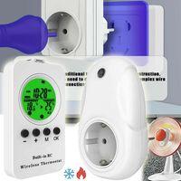 Thermostat Steckdose Wireless Steckdosenthermostat, Infrarotheizung Thermostat mit Zeitschaltuhr, Heizung- und Kühlmodus. 3680W