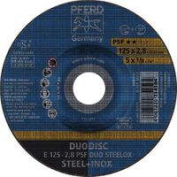 PFERD Kombischeibe PSF DUODISC STEELOX D125xS1,9mmKörnung 46 gekröpft