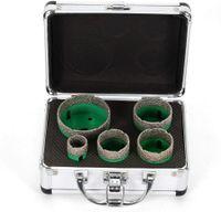 5tlg M14 Bohrkrone Diamantbohrer Diamond Drill Bit Diamant-Lochsägen-Set Fliesenbohrer 25/40/45/50/68mm Set