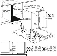 AEG Vollintegrierter-Geschirrspüler FSB53617Z / 60cm / AirDry - perfekte Trocknungsergebnisse / Besteckkorb / QuickSelect Display