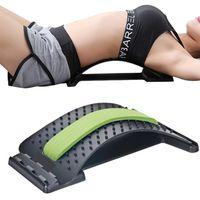 Back Support, Rückenstrecker Rückendehner Rückentrainer gegen Verspannungen (grün)