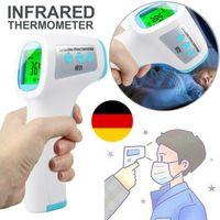 Digital Infrarot IR Stirnthermometer Kontaktloses Fieber Körper Temperaturmesser Berührungsloses Digital Stirn Fieber Körperthermometer Baby Erwachsene Indikator Berührungslos
