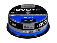 Intenso DVD+R bedruckbar 4,7 GB 16x Speed - 25stk Cake Box