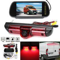 Auto LED IR Bremslicht Rückansicht Rückfahrkamera & 7 Zoll Monitor Kit Für Fiat Ducato, Citroen Relais, Peugeot Boxer