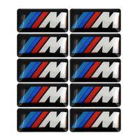 10X M Aufkleber M Emblem Logo Sticker Felgen Tacho Lenkrad 19x11mm passt für BMW