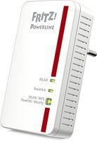 AVM FRITZ!Powerline 1240E WLAN Adapter (1.200 MBit/s WLAN-Access Point) - Plug-Type F (EU)