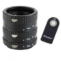 """Automatik Zwischenringe """"3-teilig 31mm, 21mm & 13mm"""" fuer Makrofotographie passend zu Canon EF/EF-S + Infrarot Auslöser"""