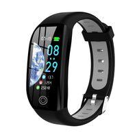 F21 Smart Armband 1.14 '' TFT Bildschirm BT4.0 Smart Watch Herzfrequenz Blutdruck Schlaf ueberwachung IP68 Wasserdicht Smart Timer Schrittzaehler Kalorien Fitness Alarm Kamera Armbanduhr fuer Android / iOS
