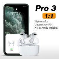 TWS Bluetooth Kopfhörer, Touch-Bedienung, In-Ear, weiß, kabellos, True Wireless, Sport, Headset, Apple Airpods Pro Alternative im Ohr Binaural mit wireless kabellosem Ladecase