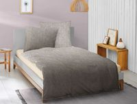 Irisette Biber Bettwäsche 2 teilig Bettbezug 135 x 200 cm Kopfkissenbezug 80 x 80 cm Feel 8212-11 grau
