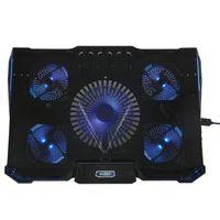 Hizek NOTEBOOK LAPTOP KÜHLER COOLER STÄNDER- 5 x LÜFTER mit LED-Leuchten für 14 - 17 Zoll Laptops