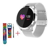 Smart Watch Android Fitness Tracker mit Blutdruckmessgerät Pulsuhr Aktivität Tracker Kalorien Schrittzähler Schrittzähler Farbe Smartwatch für Männer Frauen (Silber)
