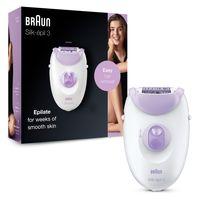 Braun Silk-épil 3-170 Epilierer für langanhaltende Haarentfernung, weiß/violett